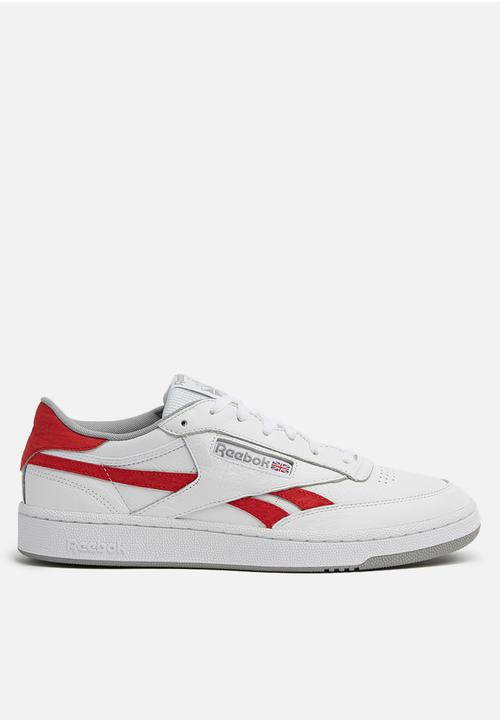6a4399202d9 REVENGE PLUS MU - WHITE PRIMAL RED TIN GREY Reebok Classic Sneakers ...