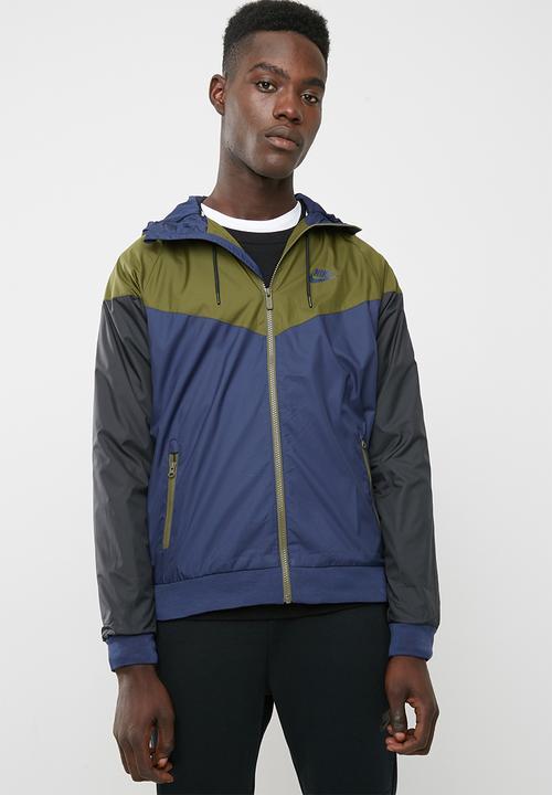 5b25bea43d M NSW Wr jacket- blue - black - fatigue Nike Hoodies