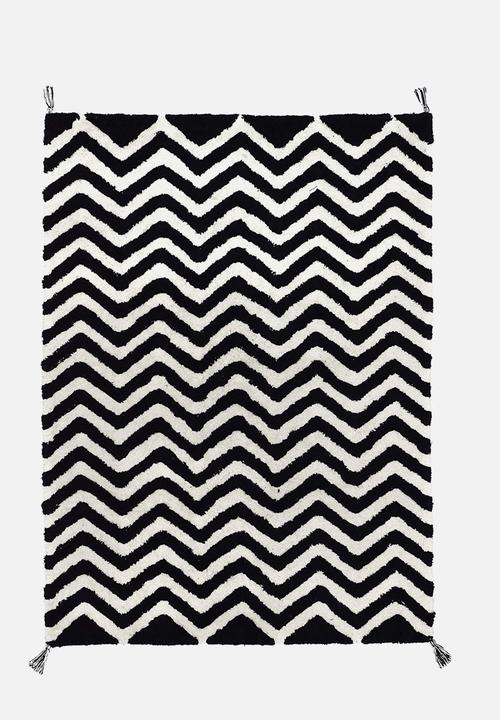 Ziggy Kids Rug Black White