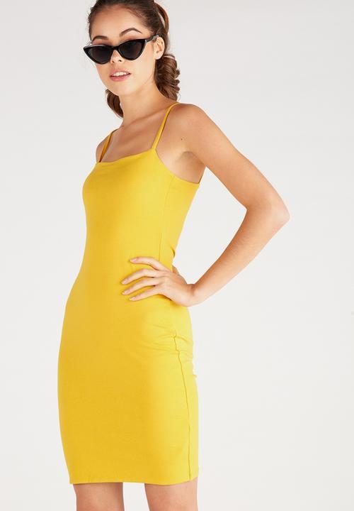 4a96df6cbd3 Square Neck Cami Dress-Mustard Supré Casual | Superbalist.com