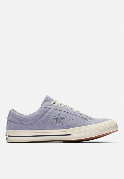 0f811f5e4b25 Converse One Star Suede OX-Precious metallic logo-provence purple ...