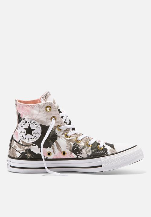5ba585c941b7 Converse CTAS HI-Linear Floral Print-white storm pink black Converse ...