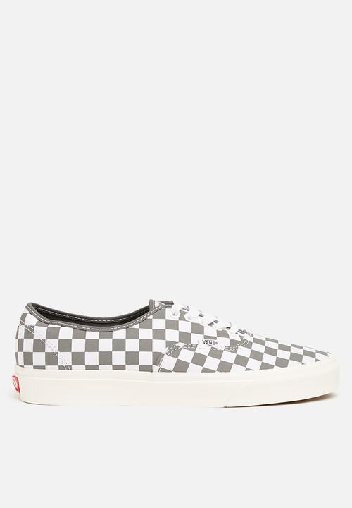 Authentic (Checkerboard) - pewter - marshmallow Vans Sneakers ... 203567534