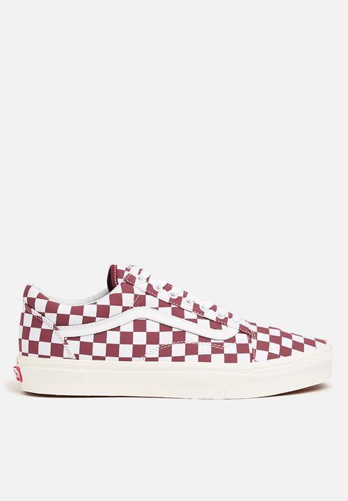 Old Skool (Checkerboard) - port royal - marshmallow Vans Sneakers ... f5e760df2