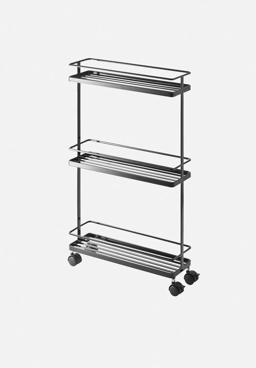 Tower Slim Kitchen Storage Cart Black