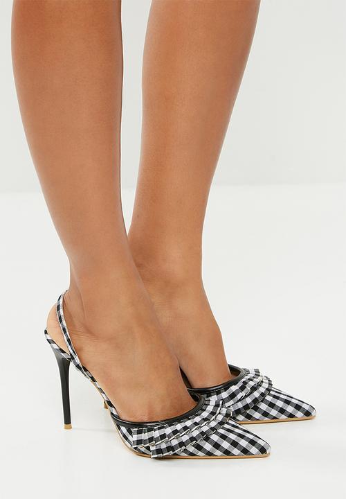 9ebfa48e8e3a Cora - black - white gingham Footwork Heels