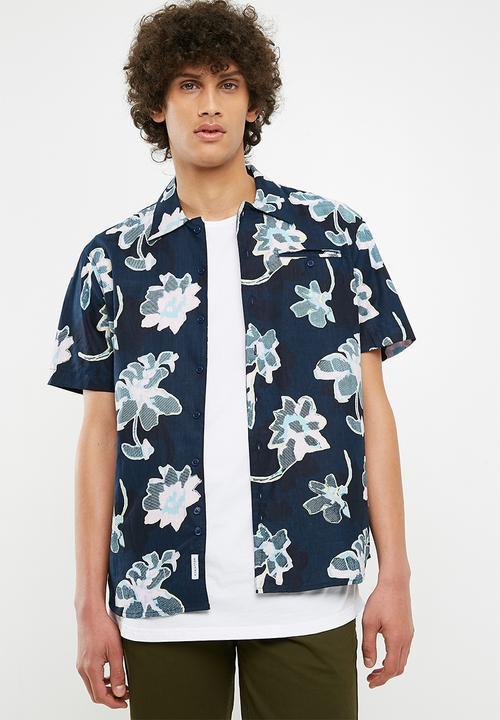 1ce779f05 Hadrian printed short sleeve shirt shirt - dark blue Bellfield ...