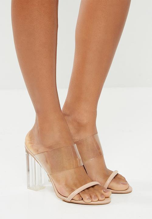 Kayla perspex block heel