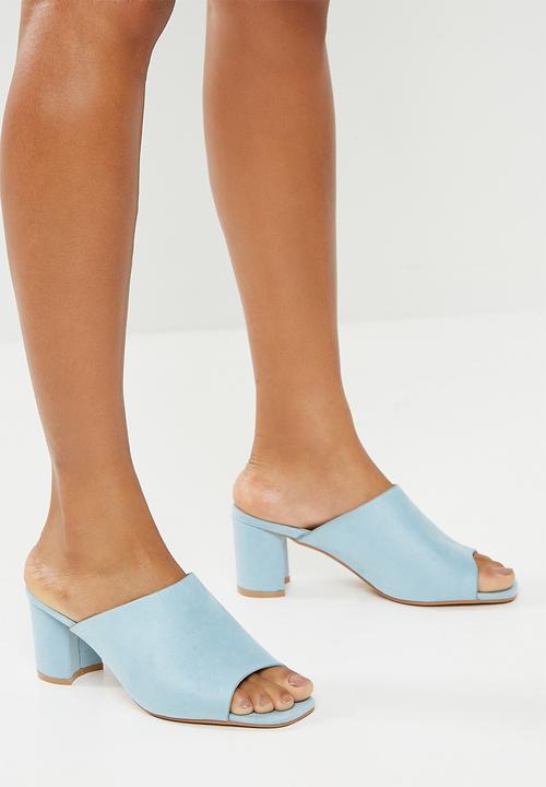 Melissa mid mule - light blue