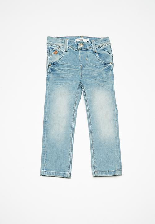 theo regular denim pants - light blue denim name it pants & jeans