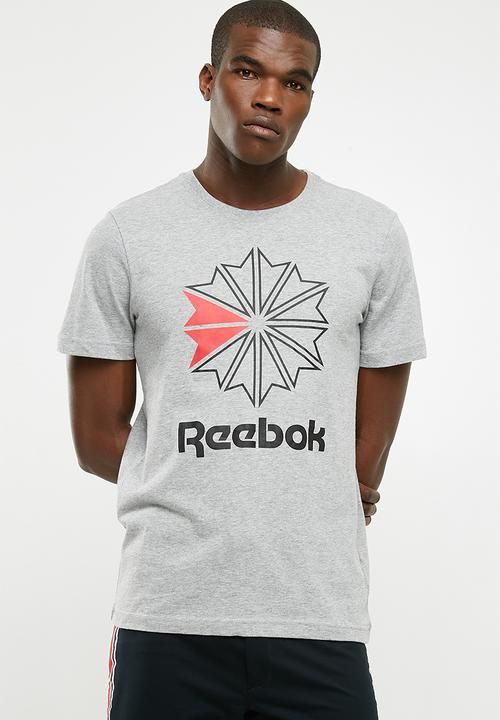90e0ef696 Foundation Graphic Tee - Medium Grey Heather Reebok Classic T-Shirts ...
