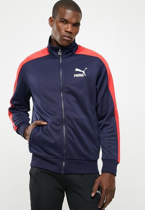 e168296abd64 Classics T7 Track jacket- navy red PUMA Hoodies