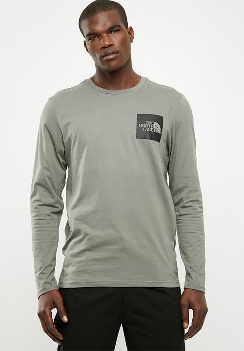 01e18b58a91e14 Men s long sleeve fine tee - new taupe green The North Face T-Shirts ...