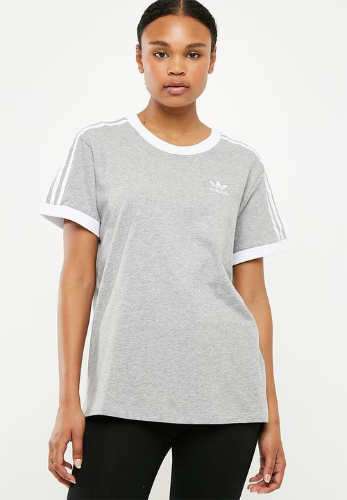 3 stripes tee - grey