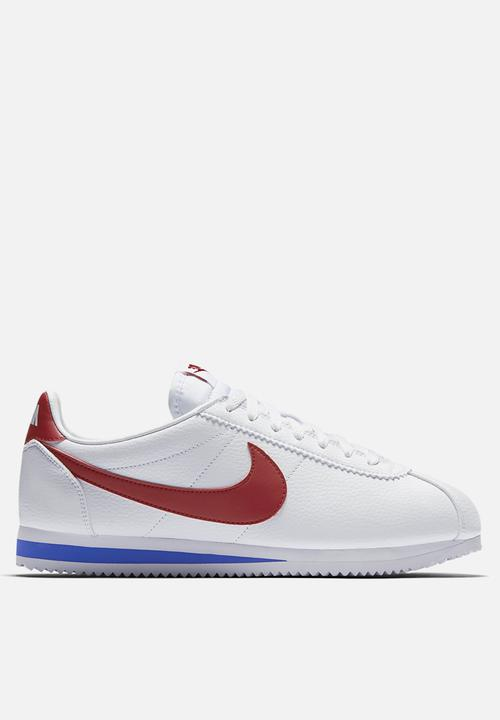 a59cdbf7e5c Men s Nike Classic Cortez Leather - 749571-154 - White   Varsity Red ...