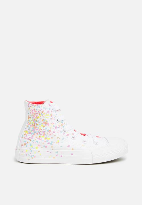 b23b392af8d3 Kids Chuck Taylor All Star Hi - white multi neon pink Converse Shoes ...