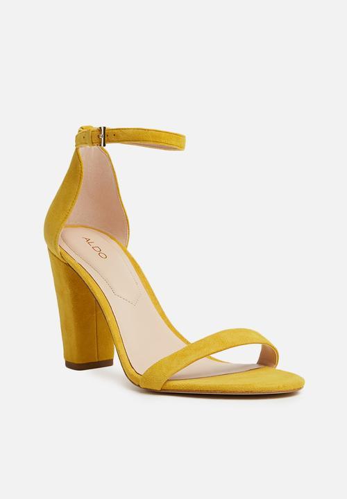 029b5d39c518 ALDO - Myly block heel - yellow. ON SALE