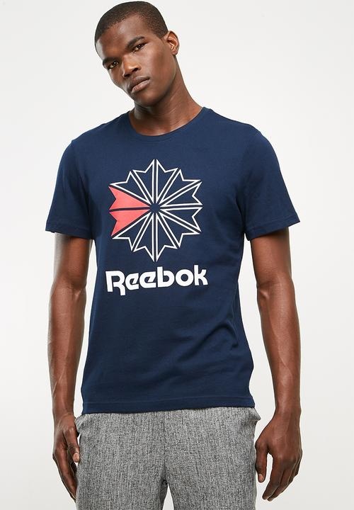 48373d383e30 Foundation graphic tee - collegiate navy Reebok Classic T-Shirts ...