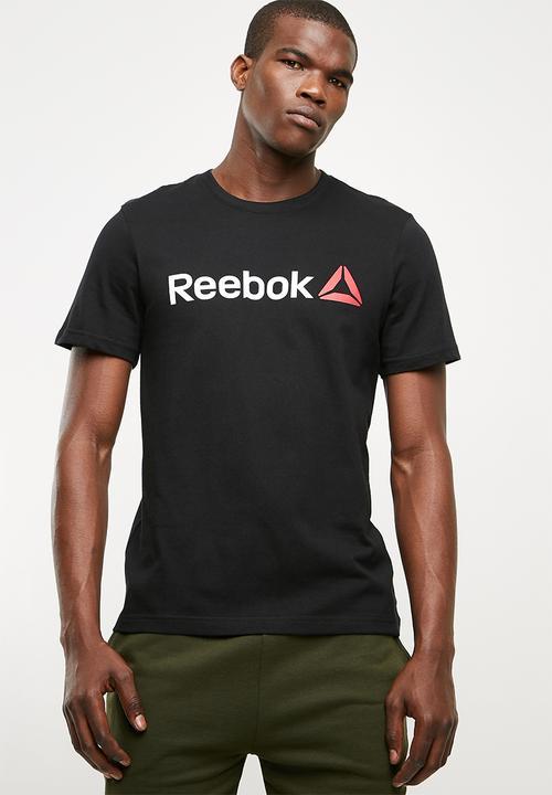 1cede298 Linear logo tee - black