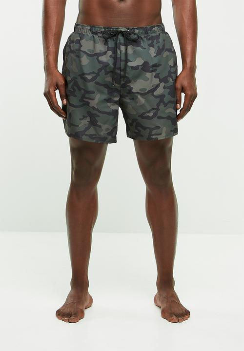 f3c53588be Camo swimshorts - dark khaki New Look Swimwear | Superbalist.com