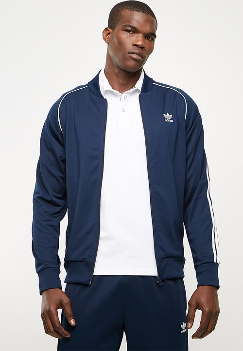 bd31d7c98cd SST track top collegiate - navy   white adidas Originals Hoodies ...