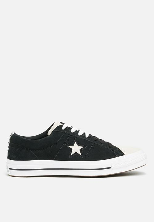 92bc536339ae90 Converse One Star Suede OX-Woven era-black white Converse Sneakers ...