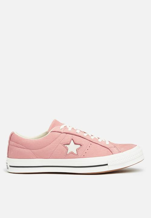 4d01fb7037d6c7 Converse One Star Suede OX-Seasonal varsity nubuck-pink black ...