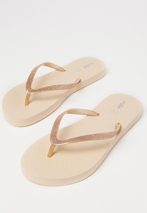 glitter strap flip flops