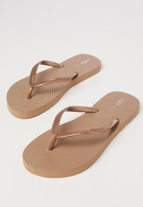 de0948fa5 Rubi Thong - Bronze Metallic Cotton On Sandals   Flip Flops ...