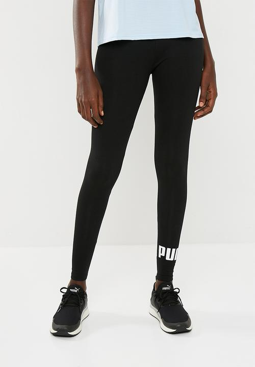 7221cdb2549236 ESS logo leggings - cotton black PUMA Bottoms | Superbalist.com