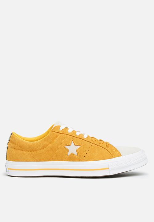 c8e27c1468f9 Converse One Star Suede OX-Woven era-university gold black white ...