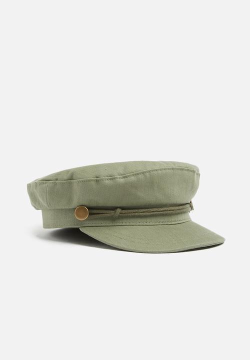 Billie baker boy - khaki herringbone trim Cotton On Headwear ... 9456e7a1259