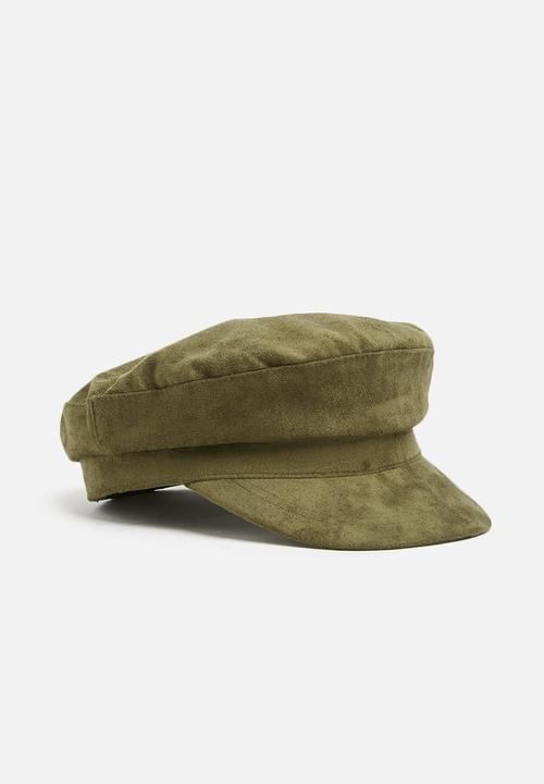 Bailey baker boy cap - khaki faux suede Cotton On Headwear ... 20addabb7a9