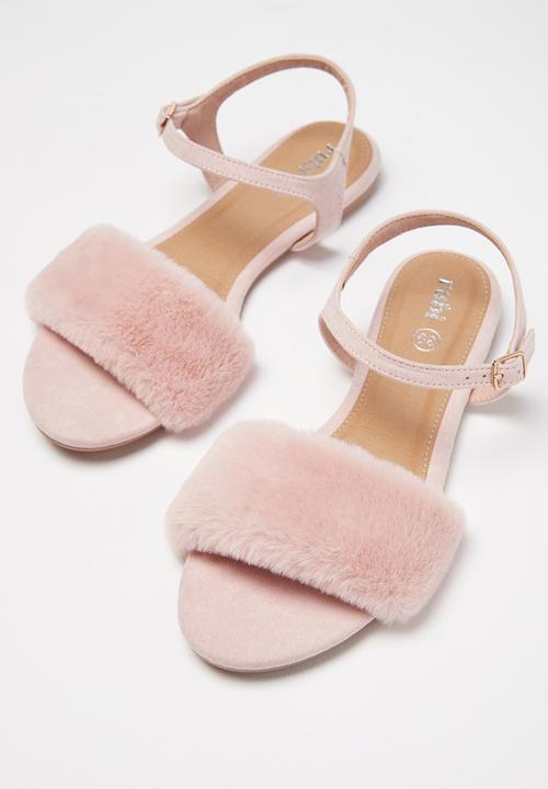 205150c6a4a9 Bianca Fluffy Sandal - Dusty Rose Fluffy Cotton On Sandals   Flip ...