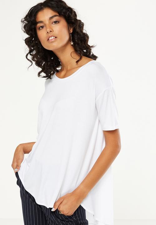 b4c1e7b9b31b06 Lara spliced summer tunic elbow sleeve top - white Cotton On T ...