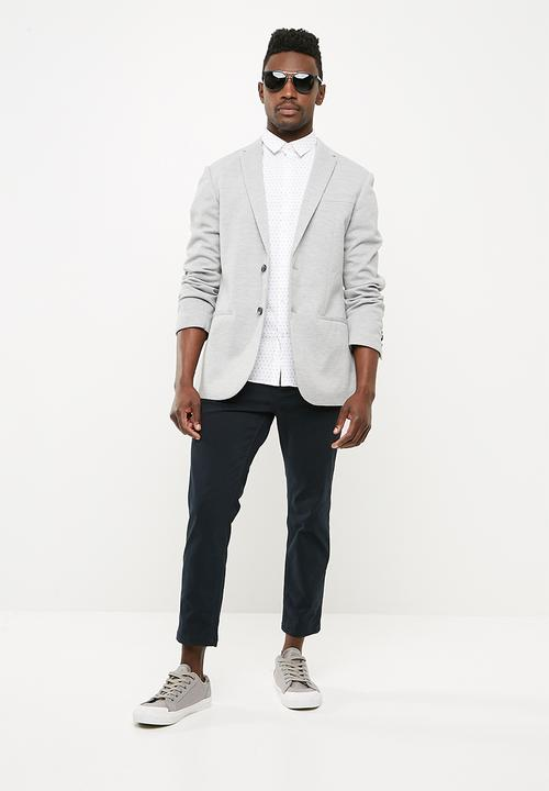 22c89b393cac Basic pique blazer - mid grey New Look Jackets & Blazers ...