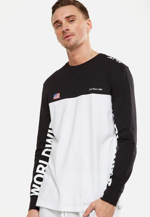 d7907d4a8a2c34 Tbar long sleeve tee - white/black/vision worldwide Cotton On T ...
