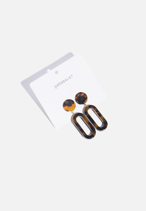 2a819d3c6752aa Geometric tortoise shell earrings - brown Superbalist Jewellery ...