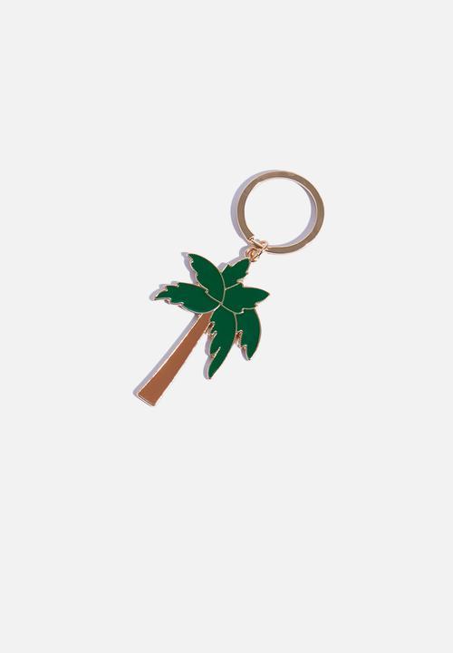 9b74b9c1eb Palm tree chain ring-green/gold dailyfriday Fashion Accessories ...