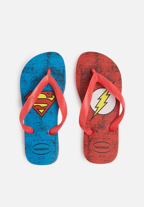 45755cb426c Kids heroes DC sandals - ruby red Havaianas Shoes