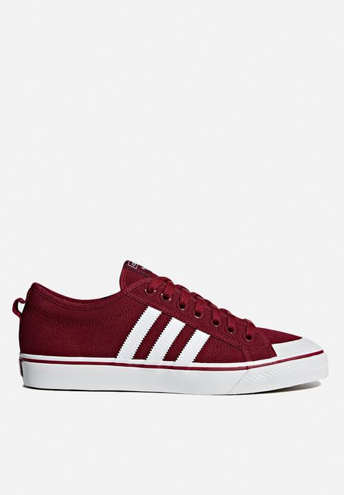 950b952a7f19 Nizza - Maroon   White adidas Originals Sneakers