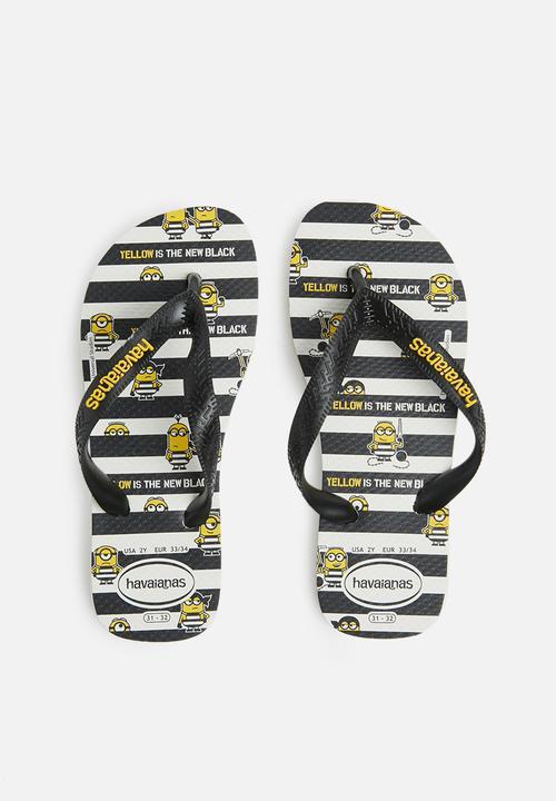 81dc2f2b05d996 Kids Minions sandals - white black Havaianas Shoes
