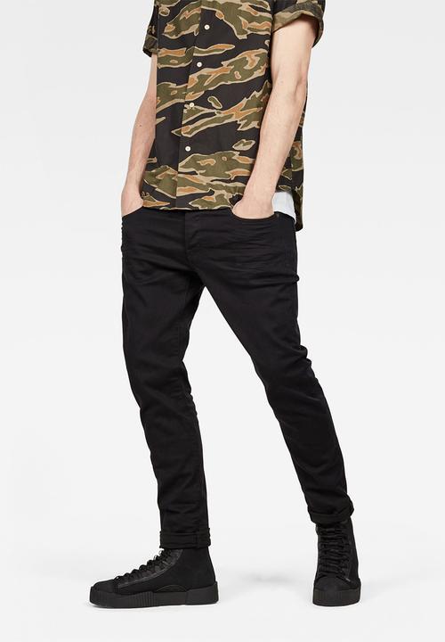 155c391d42e0 3301 slim ita black superstretch rinsed G-Star RAW Jeans ...