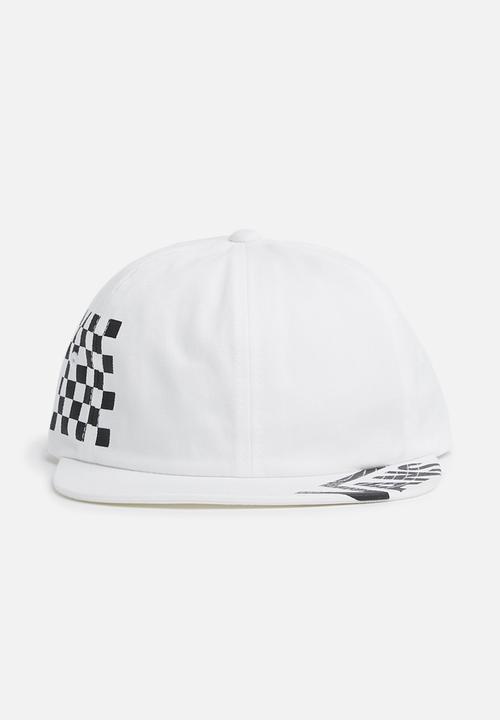 08e8d3c6 Vans distort jockey hat - white / checkered Vans Headwear ...