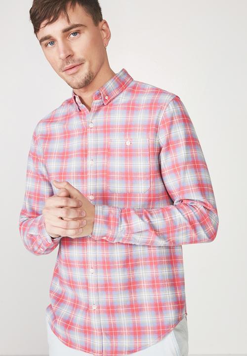 55fc762564e 91 long sleeve shirt - red & blue