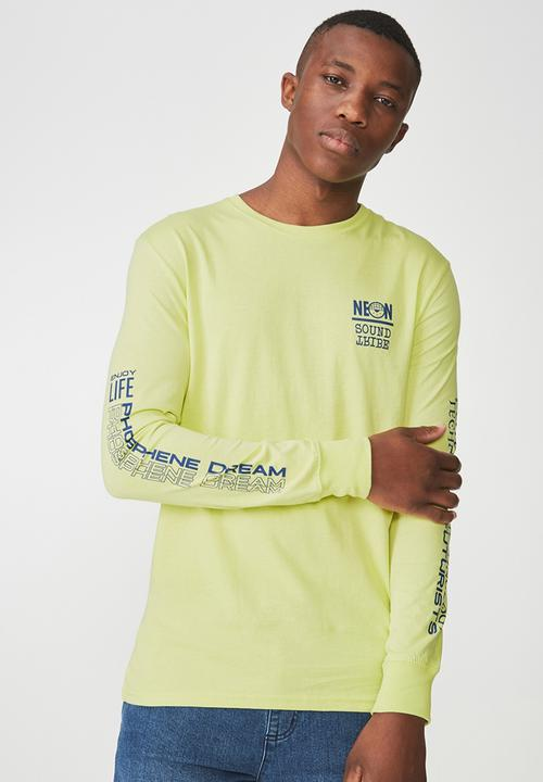 54a58e23f4c0d3 Tbar long sleeve tee - citrus crush/lock and key Cotton On T-Shirts ...