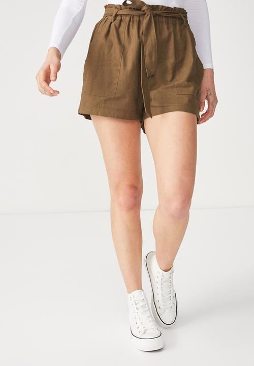 a76c8d3221 High waist belted short - beech Cotton On Shorts | Superbalist.com