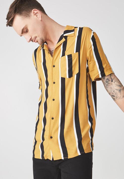 1b9471b672d5 Festival short sleeve shirt - tan/black stripe Cotton On Shirts ...