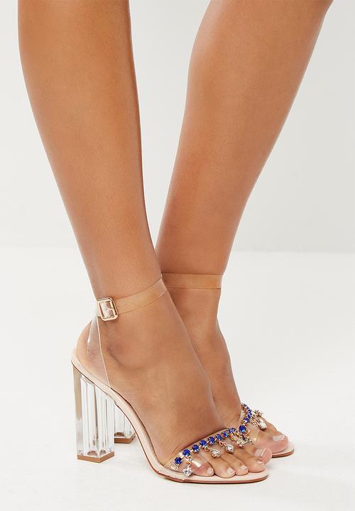 Rian jewel toe perspex heel - blue jewels   perspex Public Desire ...