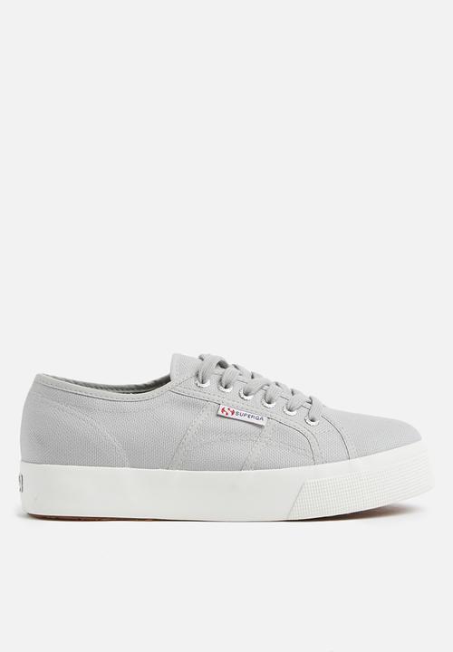 e5fa6e49edc6 2730 COTU canvas wedge - light grey SUPERGA Sneakers